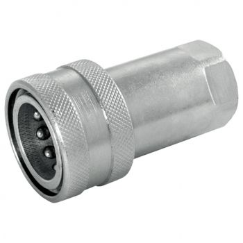 316 Stainless Steel ISO A Coupling with Viton Seals, BSPP