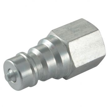 316 Stainless Steel ISO A Plug with Viton Seals, BSPP